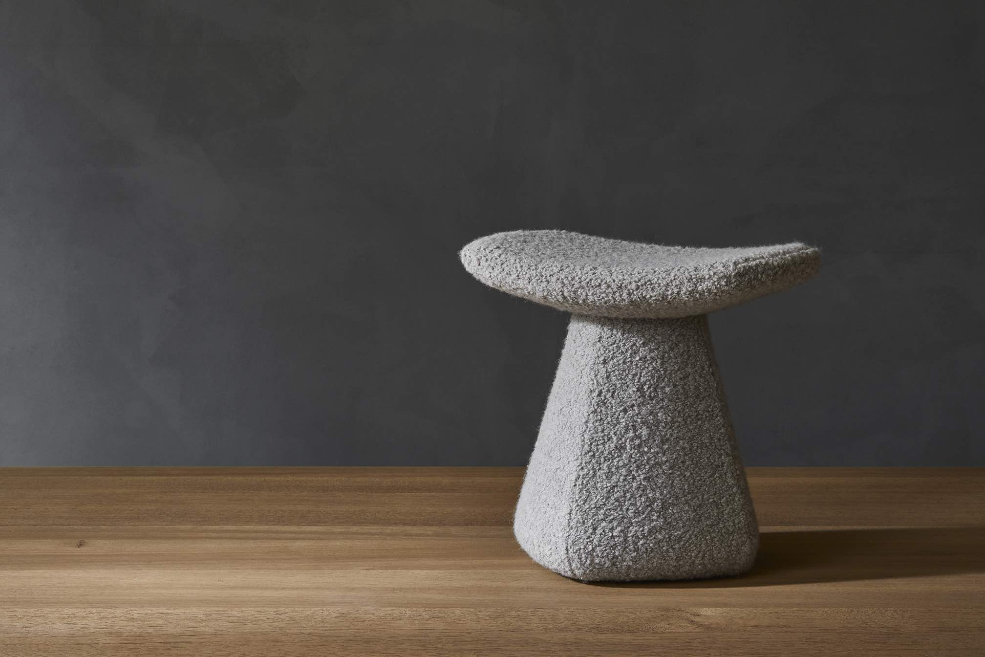 DAM-STOOL-UPHOLSTERED-WOOL-GREY-DESIGN-CHRISTOPHE-DELCOURT-COLLECTION-PARTICULIERE